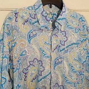 Alan Flusser Paisley Button Down Shirt